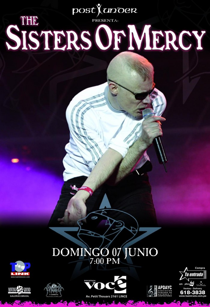 Sisters of mercy en Lima (flyer) - Conciertos Peru