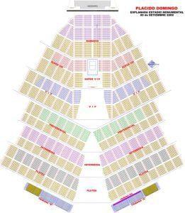 Mapa del concierto de Placido Domingo en Lima