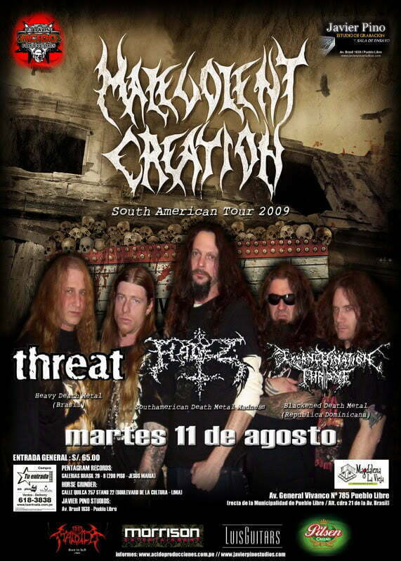 malevolent creation lima peru