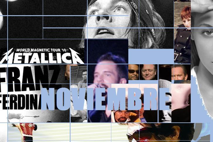 Resumen de conciertos noviembre