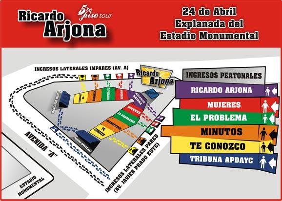 Ricardo arjona en lima entradas a la venta conciertos per for Puerta 4 del jockey