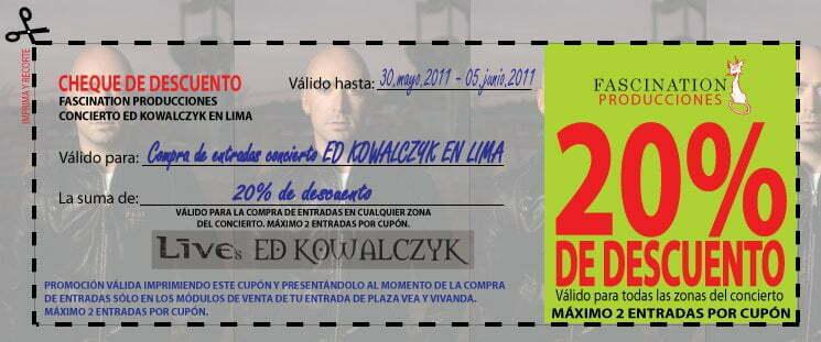 Ed Kowalczyk La Voz De Live En Lima Precios De Entradas