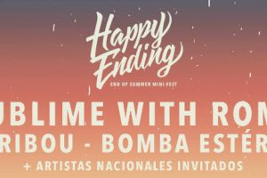 Flyer del festival Happy Ending