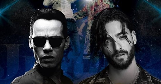 Marc Anthony y Maluma en Lima