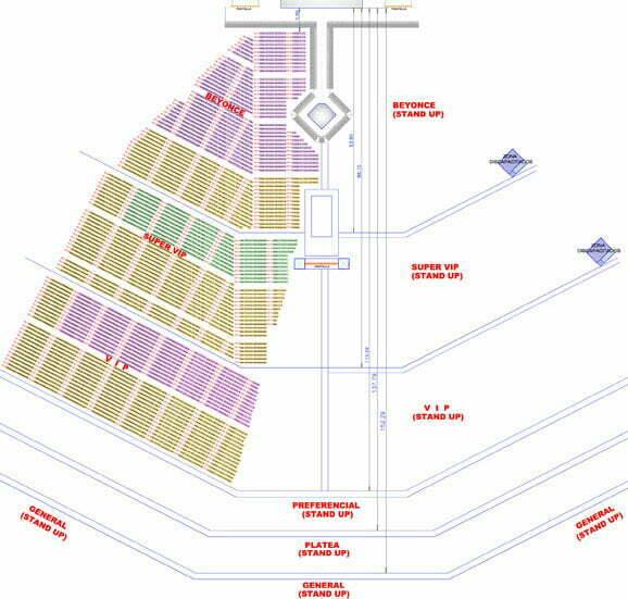 Mapa zonas Beyonce